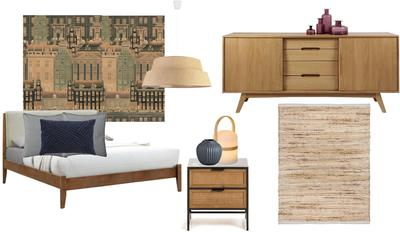 bold wallpaper bedroom
