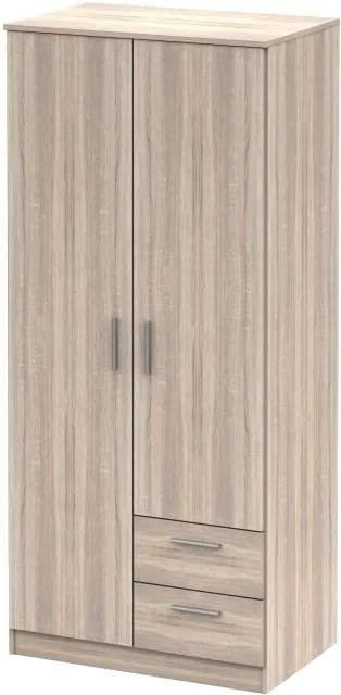 Dulap cu două uşi, stejar sonoma, NOKO-SINGA 81
