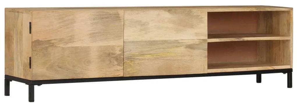 247944 vidaXL Comodă TV, 145 x 30 x 41 cm, lemn masiv de mango