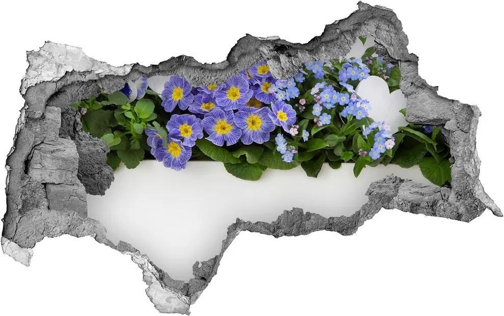 Autocolant autoadeziv gaură Flori albastre