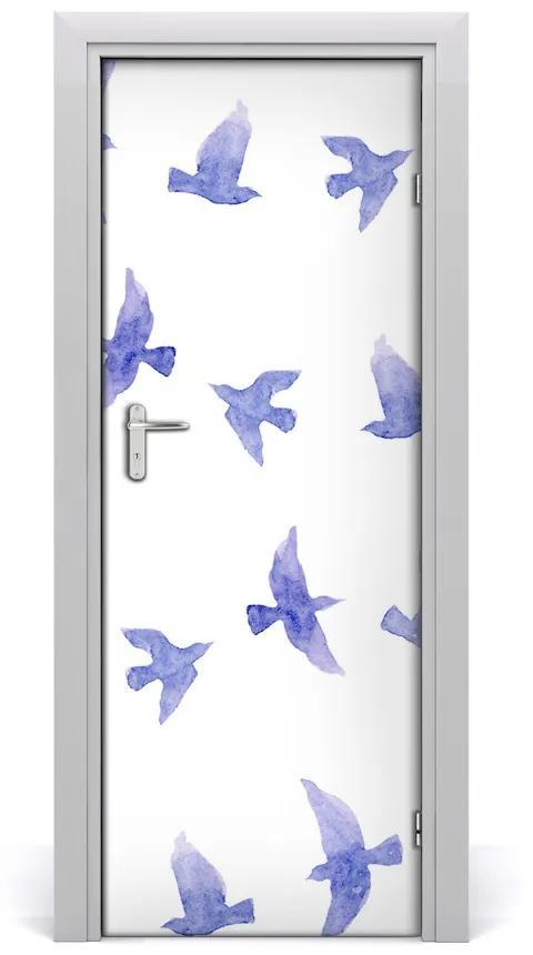 Autocolante pentru usi Autocolant adeziv DOOR Albastru Swallows