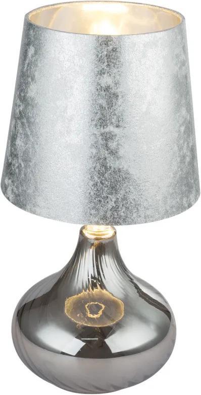 Globo 24000SS Veioze, Lampi de masă JOHANNA crom sticlă 1 x E27 max. 60W IP20