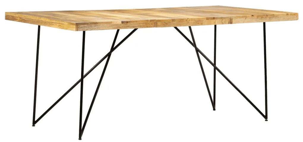 282880 vidaXL Masă de bucătărie, 180 x 90 x 76 cm, lemn masiv de mango