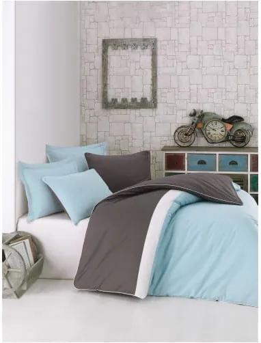 Lenjerie de pat cu cearșaf din bumbac Plain Sport II, 200 x 220 cm