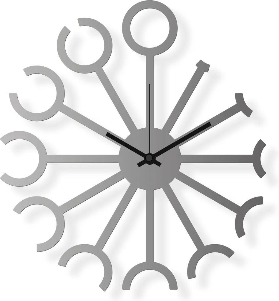 Ceas de perete de dimensiuni medii, din oțel inoxidabil 40x36 cm - Douăsprezece   DSGN