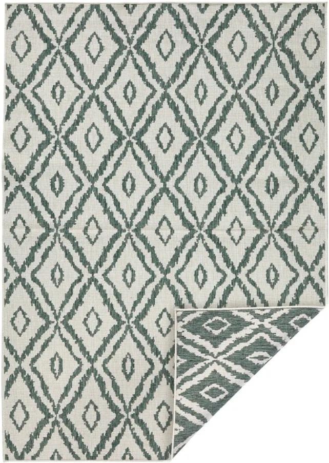 Covor adecvat pentru exterior Bougari Rio, 80 x 150 cm, verde - alb