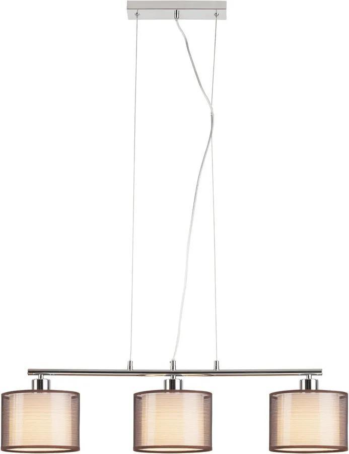 Rábalux Anastasia 2630 Lampi de sufragerie crom maro E27 3x MAX 60W 100 x 80 x 18 cm