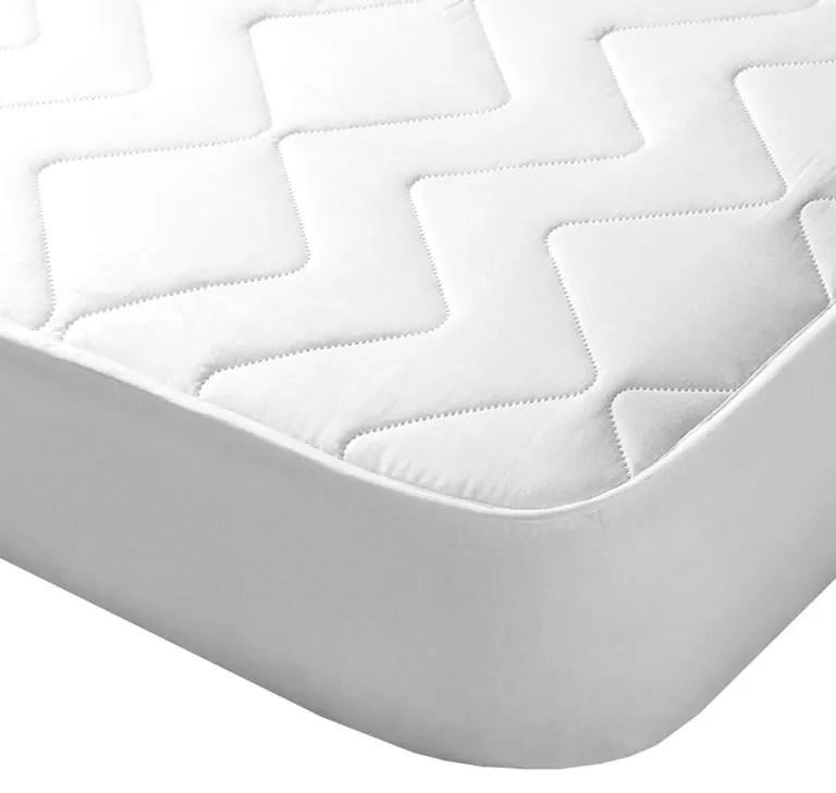 Protecţie de saltea matlasată cu aloe vera de culoare albă 160 x 200 cm