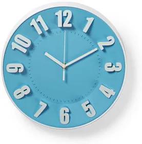 Ceas de perete circular Nedis, diametru 30 cm, albastru