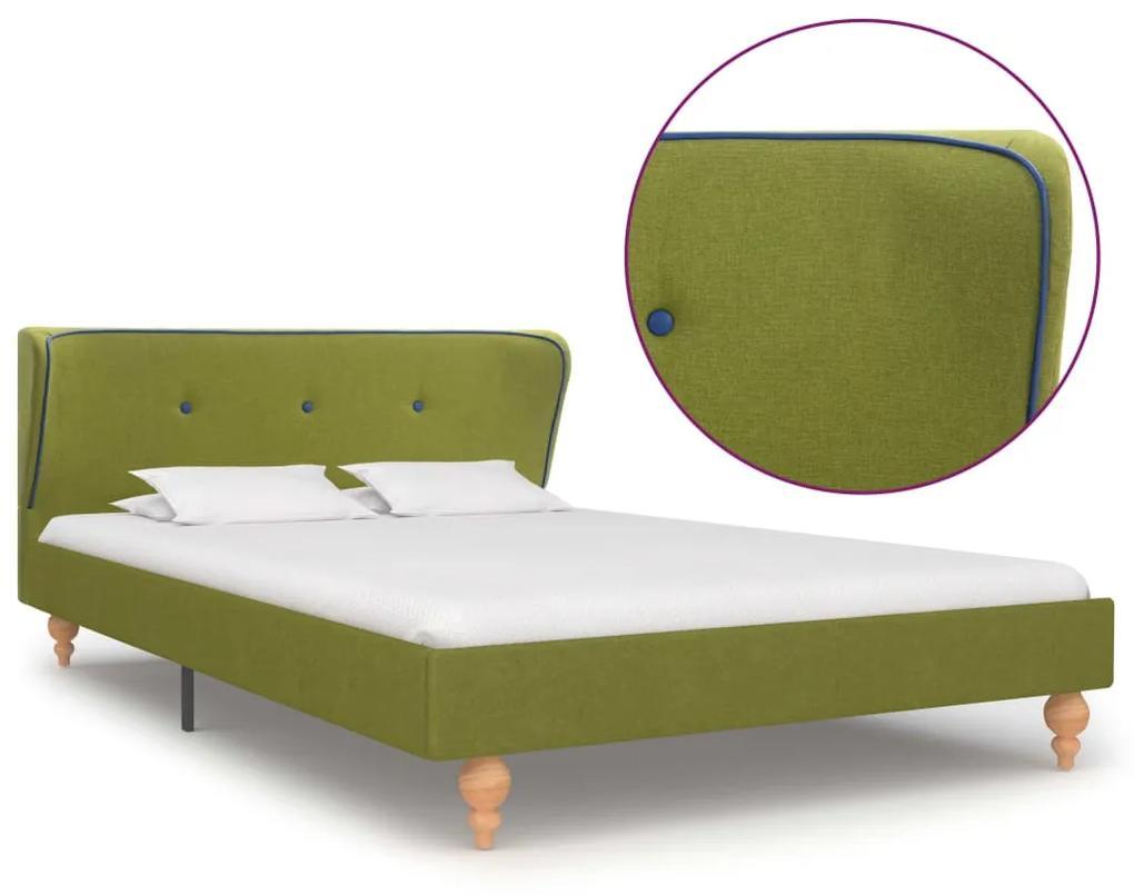 280583 vidaXL Cadru de pat, verde, 120 x 200 cm, material textil