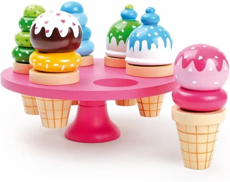 Set 6 înghețate din lemn Legler Waffle Ice Cream