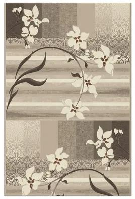 Traversa Aquarelle model floral bej/gri/maro 80 cm latime (la metru)