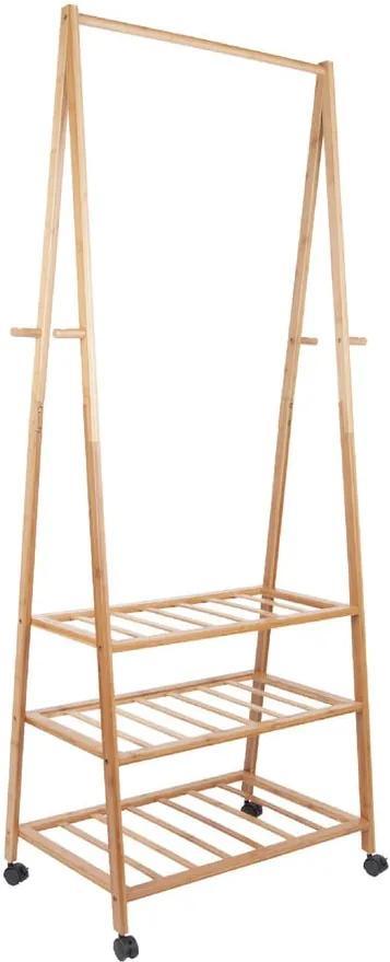 Cuier din bambus pentru haine Leitmotiv Native, înălțime 175 cm