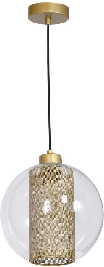 Lustră FUNA 1xE27/60W/230V auriu