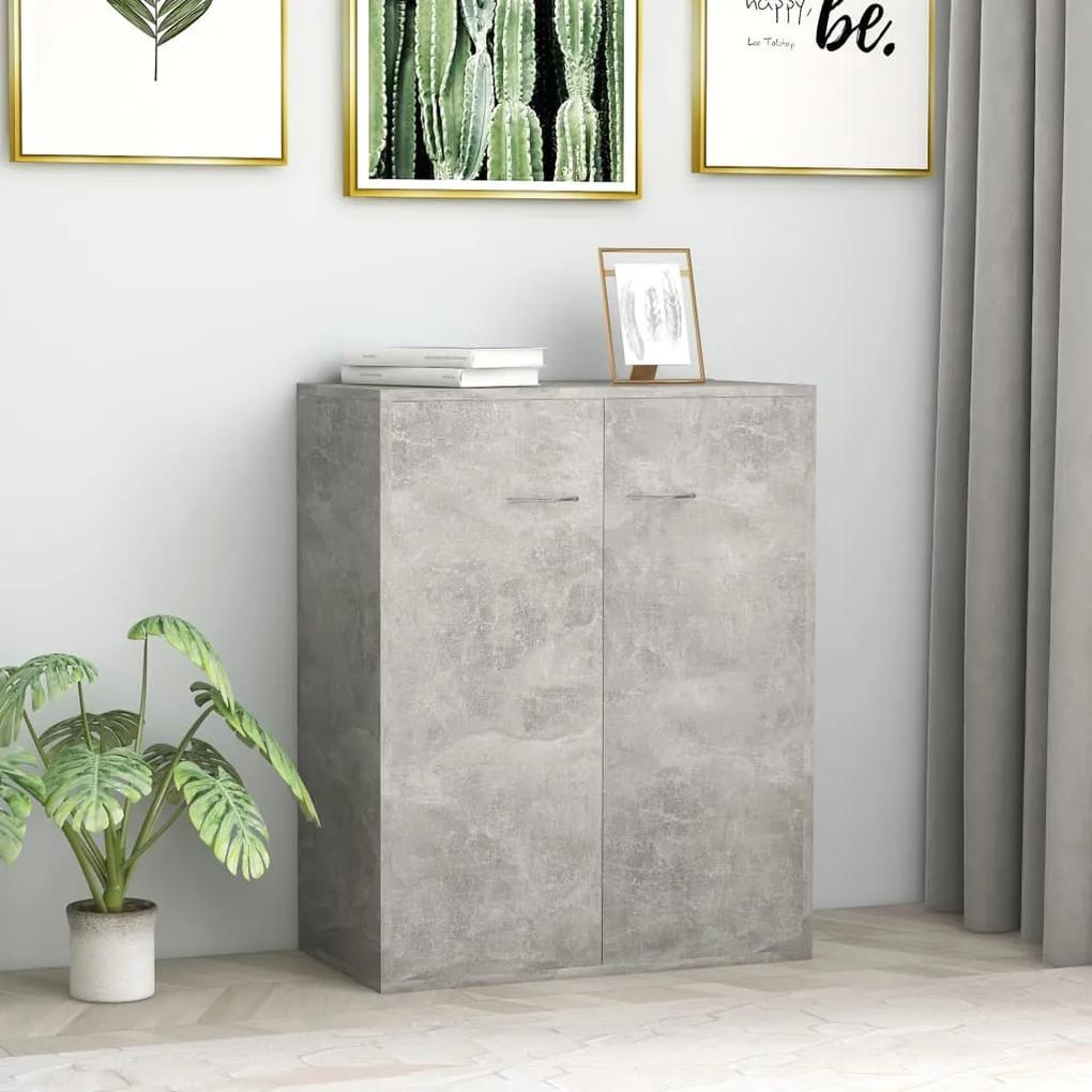 800733 vidaXL Servantă, gri beton, 60 x 30 x 75 cm, PAL