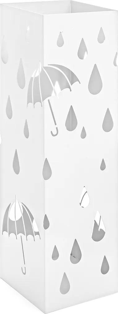Suport umbrele metal alb Drizzle 16 cm x 16 cm x 49 h