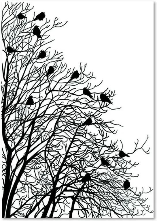 Tablou CARO - Birds On The Branches 2 30x40 cm