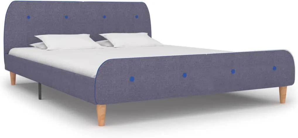 Cadru de pat, gri deschis, 180 x 200 cm, material textil