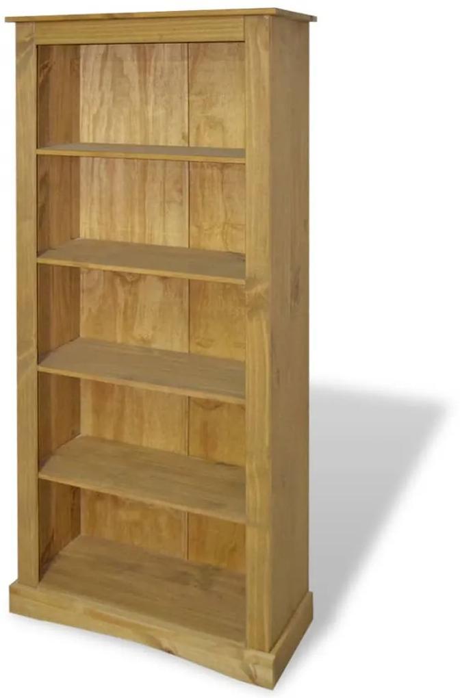 243744 vidaXL Bibliotecă 5 rafturi, pin mexican, stil Corona 81 x 29 x 170 cm