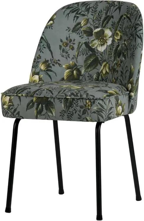 Scaun dining catifea floral Vogue Velvet Poppy Grey