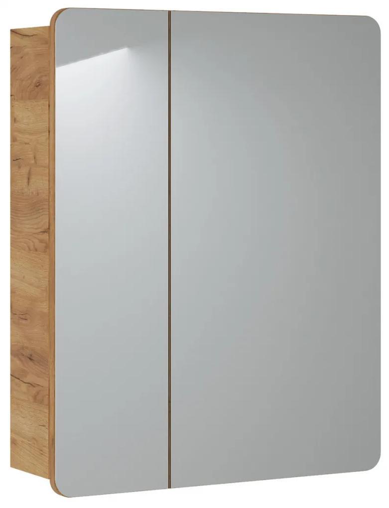 Corp suspendat cu oglinda Lucas 60 cm Stejar sonoma, 16 cm, 60 cm, 75 cm