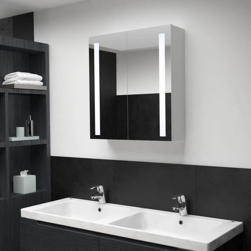 285125 vidaXL Dulap de baie cu oglindă și LED, 62 x 14 x 60 cm