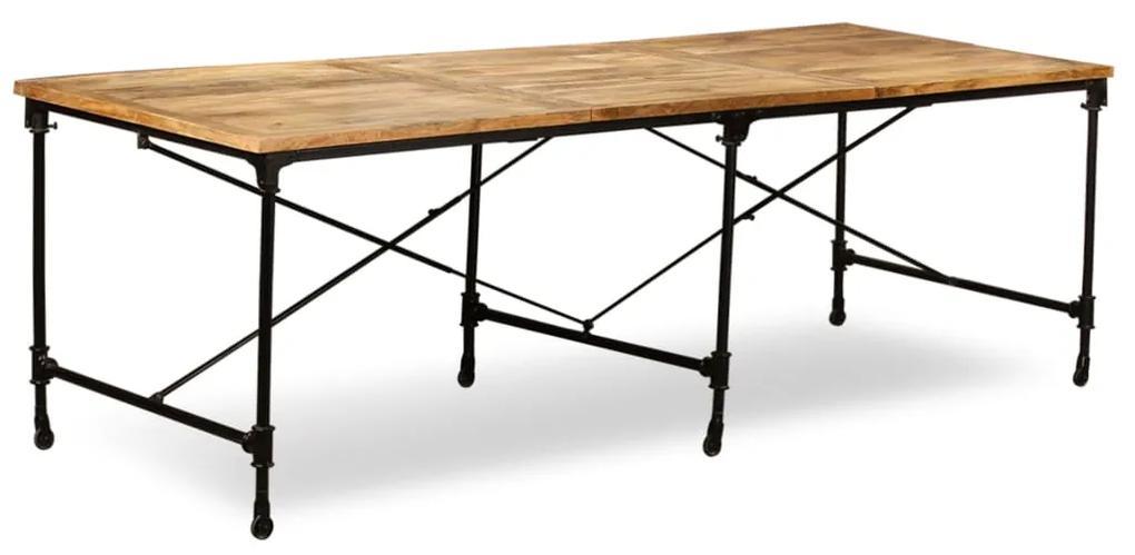 243992 vidaXL Masă de bucătărie, lemn masiv de mango, 240 cm