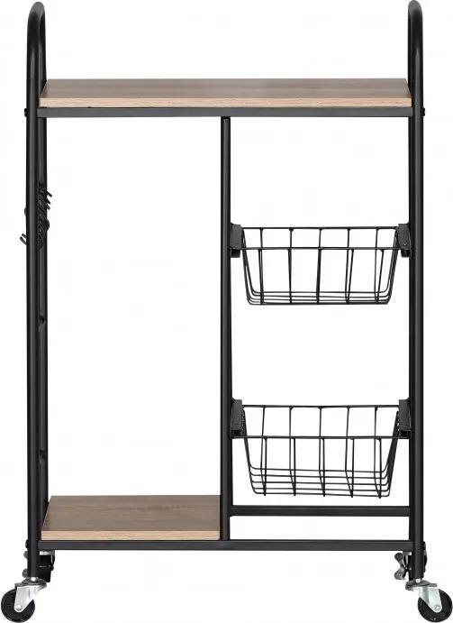 Masuta mobila bucatarie,2 rafturi,2 cosuri,57x30x85 cm