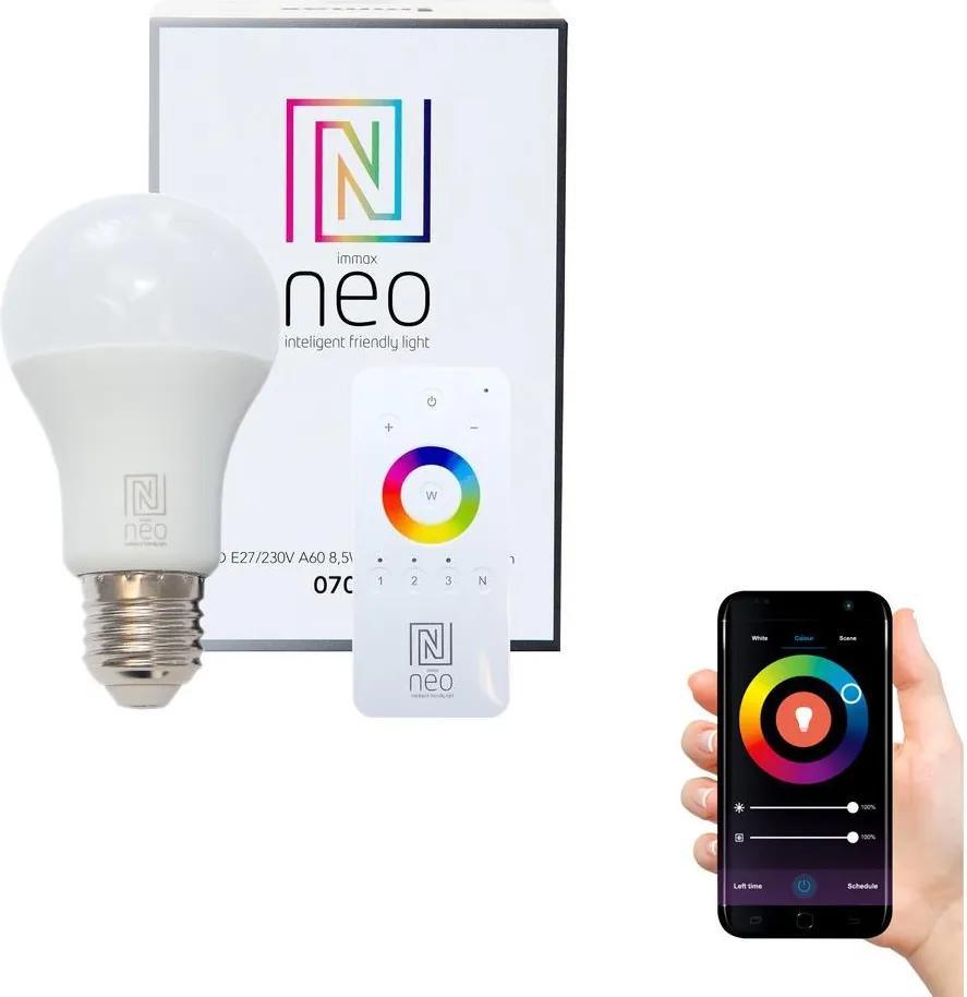 Immax NEO 07001D - LED Bec dimmabil E27/8,5W/230V + telecomandă ZigBee 2700K
