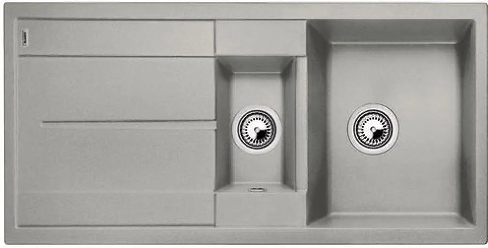 Chiuveta de bucatarie Blanco METRA 6 S silgranit, gri perlat, 520578, 100 cm