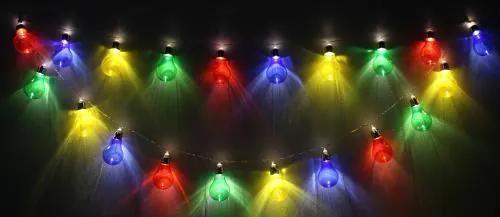 Ghirlanda luminoasa decorativa 20 LED-uri multicolore cu jocuri de lumini cablu transparent, WELL