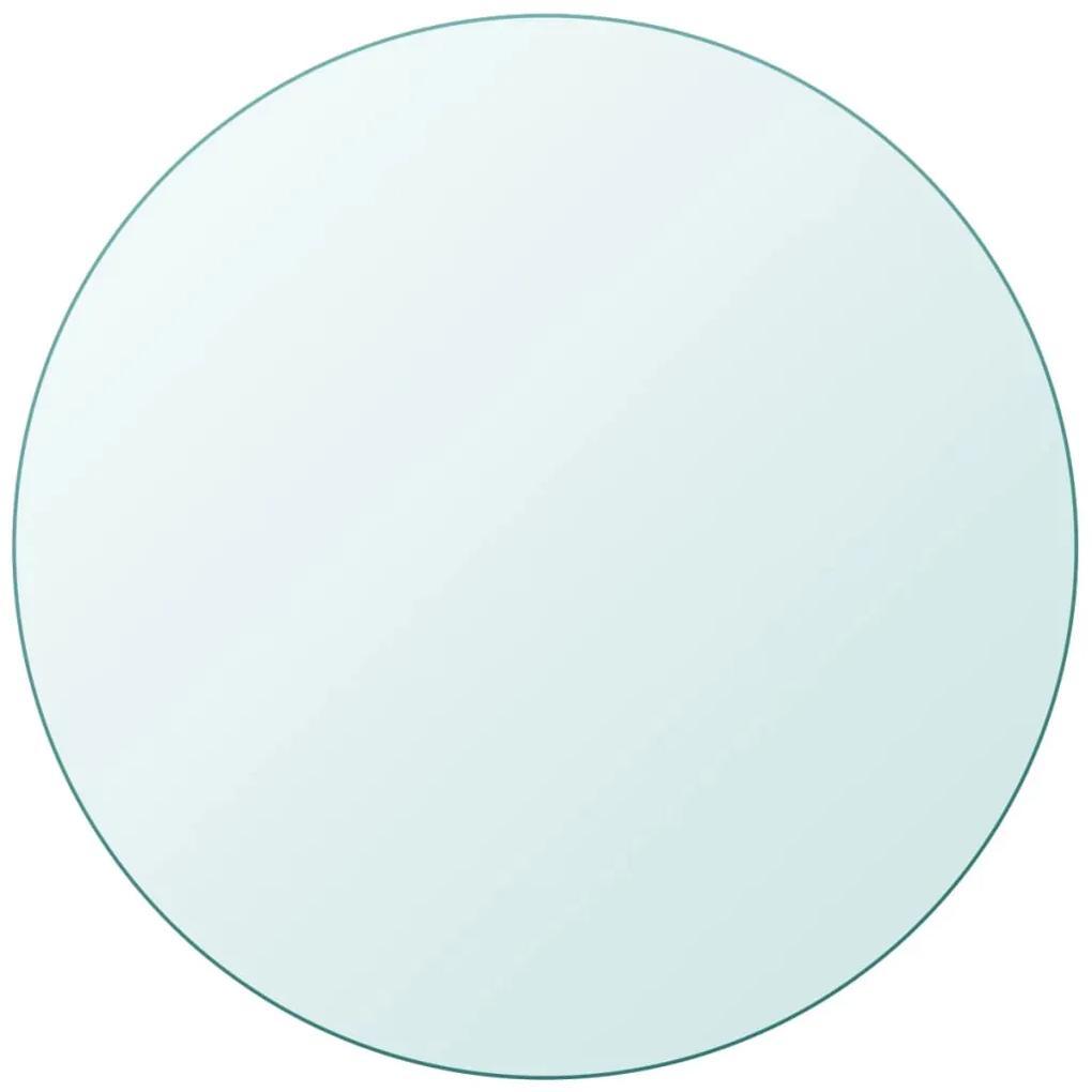 243625 vidaXL Blat de masă din sticlă securizată rotund 400 mm
