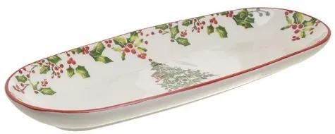 Platou din ceramica Xmas 36 cm x 16 cm x 4 cm