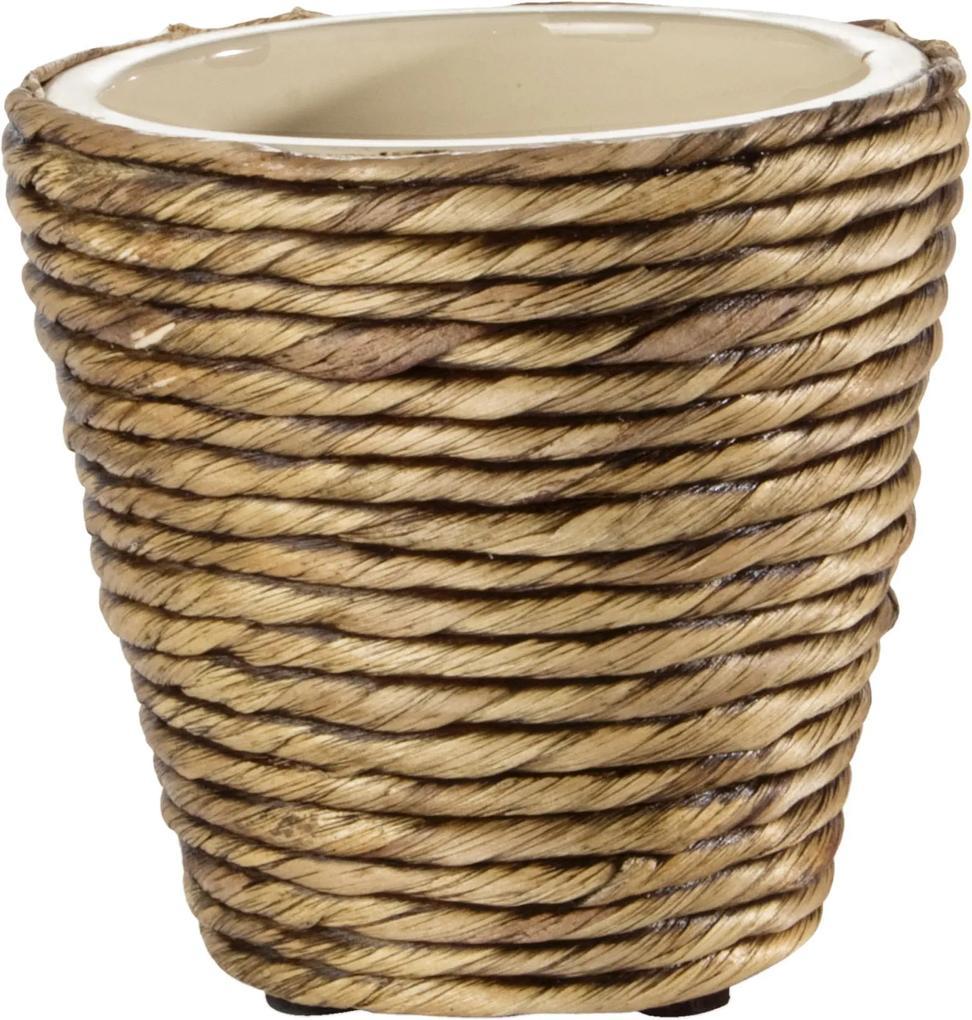 Ghiveci ceramic decorativ pentru flori 12x12x12 cm