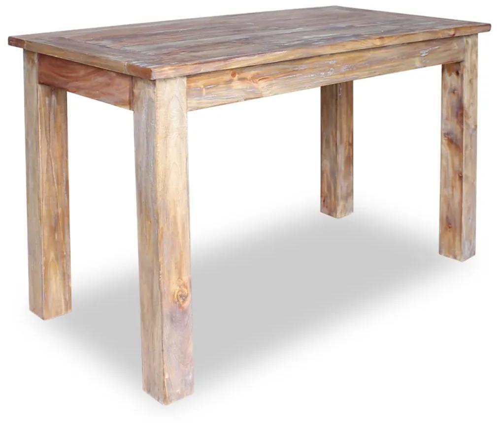 244496 vidaXL Masă de bucătărie din lemn masiv reciclat, 120 x 60 x 77 cm
