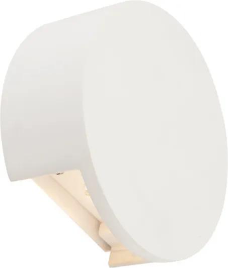 Globo 55010-W2 Aplice perete CHRISTINE alb gips LED - 1 x 6,5W 584lm 3000K IP20 A