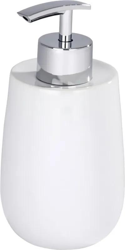 Dozator din ceramică pentru săpun lichid Wenko Malta, alb