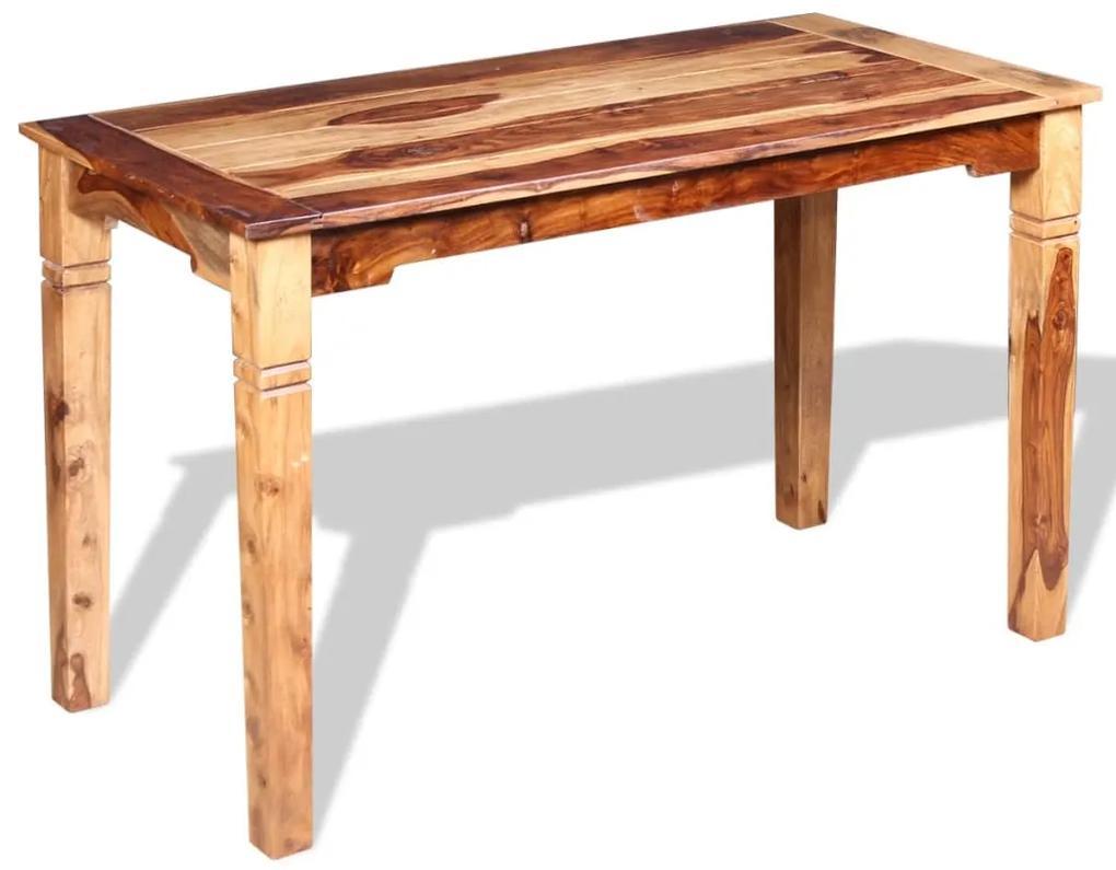 243963 vidaXL Masă de bucătărie, lemn masiv de sheesham, 120 x 60 x 76 cm