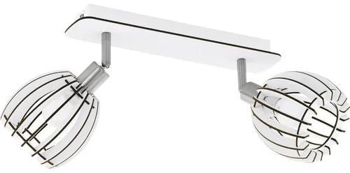 Sina spoturi Cossano E14 max. 2x28W, lemn alb