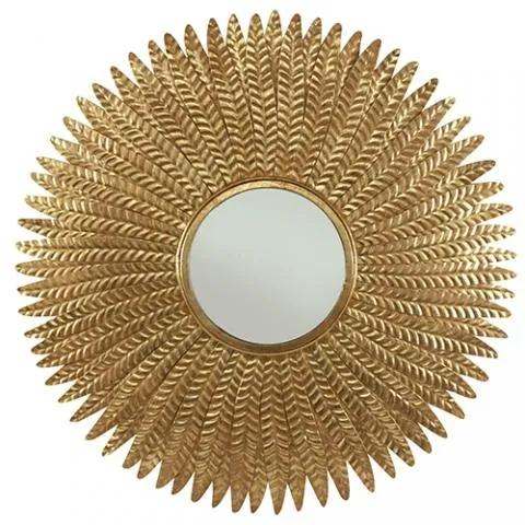 Oglinda decorativa ( ø 89cm) Feathers Brass | PRIMERA COLLECTION