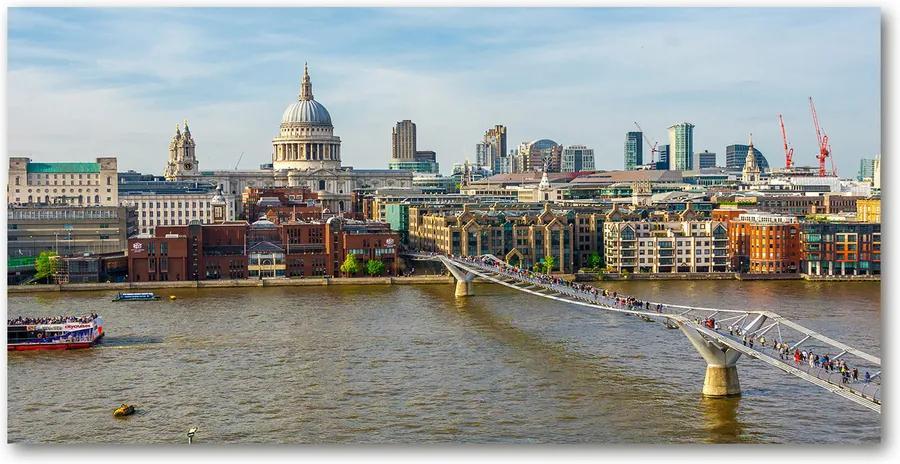 Tablou pe sticlă acrilică Thames Londra