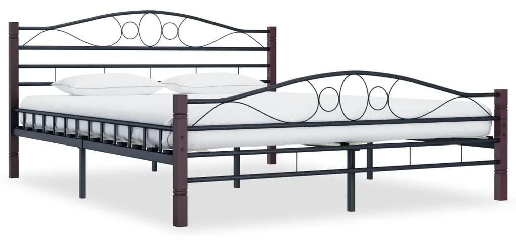 285296 vidaXL Cadru de pat, negru, 200 x 200 cm, metal
