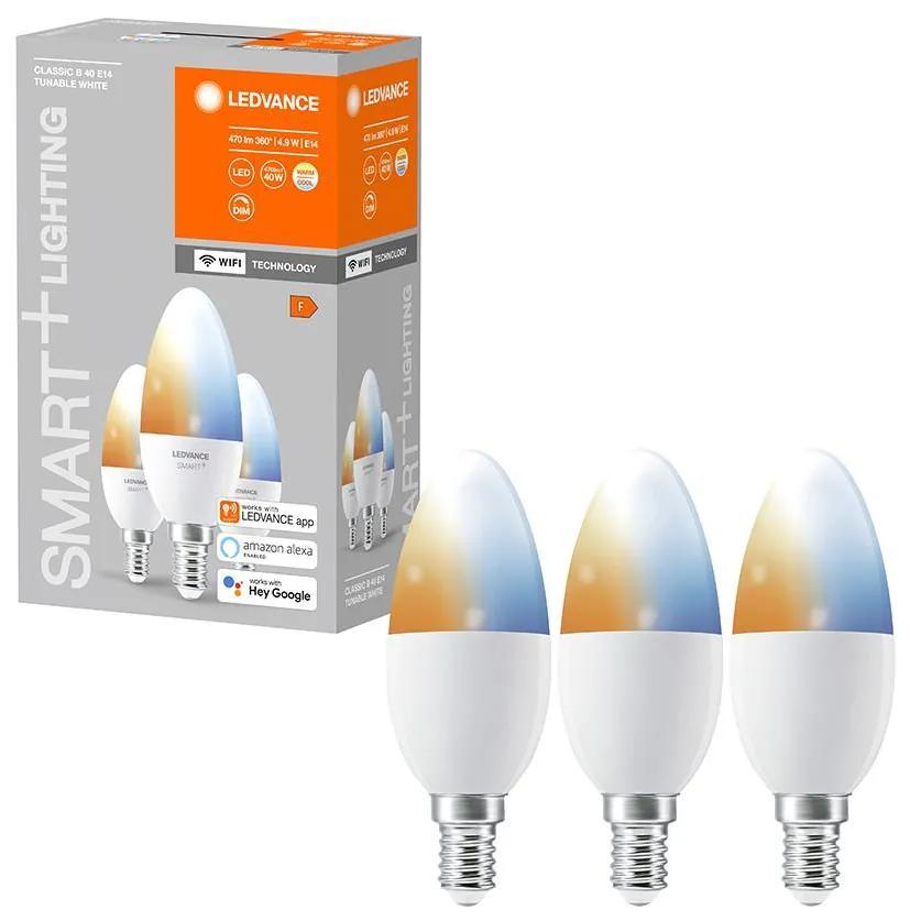 SET 3x Bec de iluminat cu LED SMART + E14/5W/230V 2700K-6500K - Ledvance