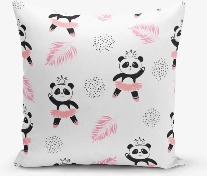 Față de pernă cu amestec de bumbac Minimalist Cushion Covers Panda, 45 x 45 cm