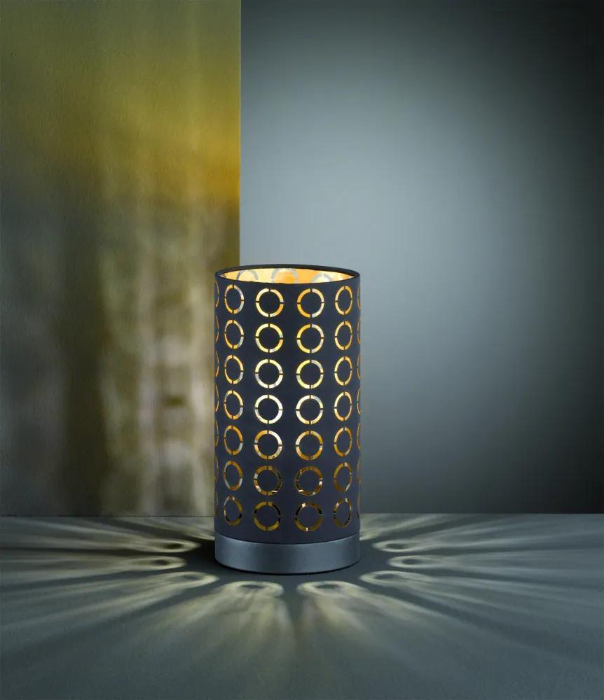 Trio R50451002 Veioze, Lampi de masă negru excl. 1 x E14, max. 40W Ø 13cm/ ↕ 25cm