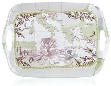 Platou cu mânere Banquet Olives, din melamină