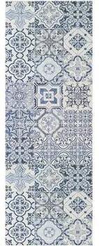 Traversa Oporto blu, 140x50 cm