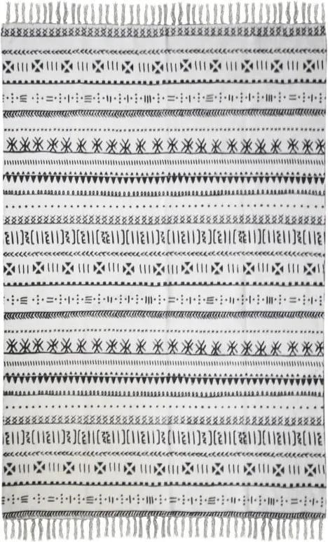 Covor din bumbac HSM collection Colorful Living Manio, 120 x 180 cm, negru alb