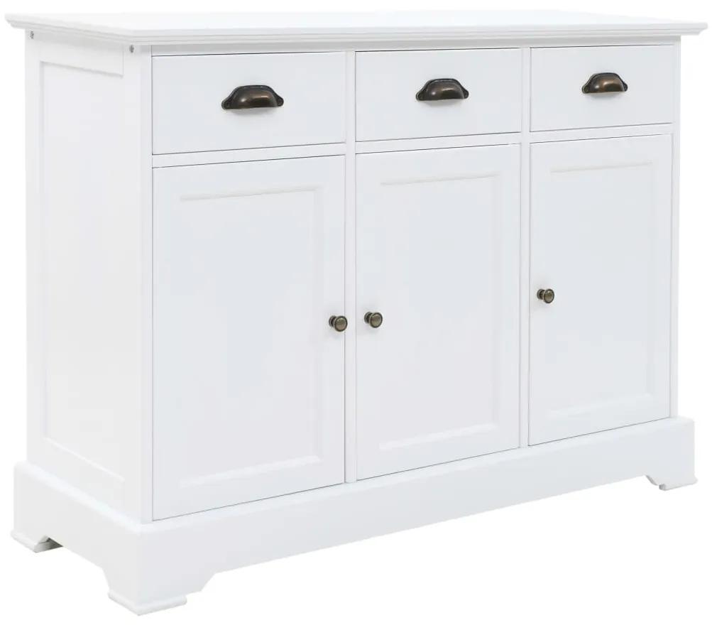 245754 vidaXL Servantă cu 3 uși, 105 x 35 x 77,5 cm, MDF și lemn de pin