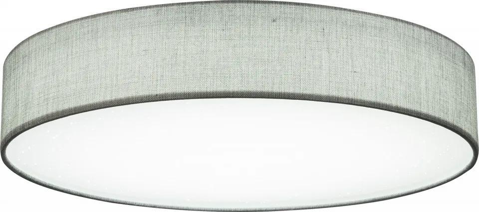 Plafoniera Paco, metal/textil, gri, 14 x 80 cm, 80w